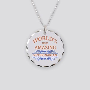 Veterinarian Necklace Circle Charm