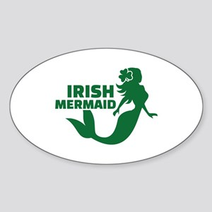 Irish mermaid Sticker (Oval)