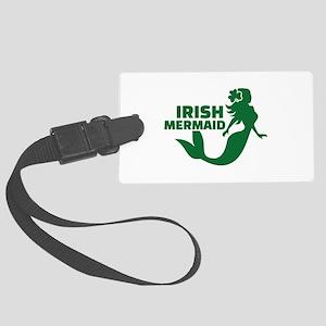 Irish mermaid Large Luggage Tag