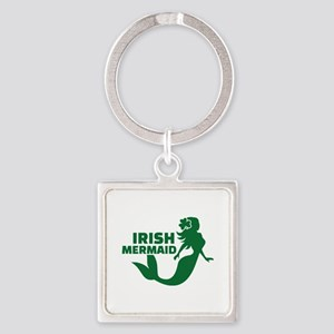 Irish mermaid Square Keychain