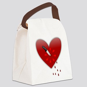 anti valentines bloody heart Canvas Lunch Bag