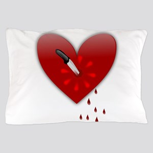 anti valentines bloody heart Pillow Case
