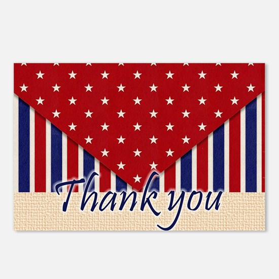 Thank You Americana Postcards (Package of 8)