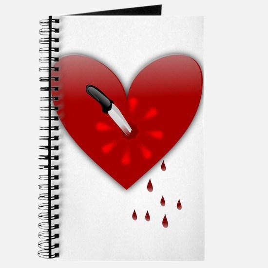 anti valentines bloody heart Journal