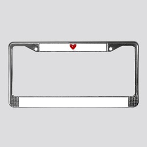 anti valentines bloody heart License Plate Frame