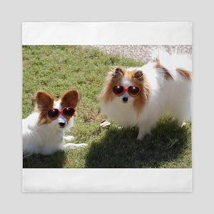dogs in sunglasses Queen Duvet