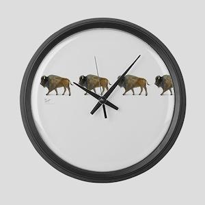 Buffalos Large Wall Clock