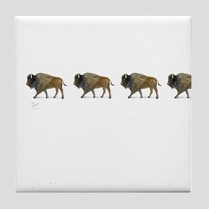 Buffalos Tile Coaster