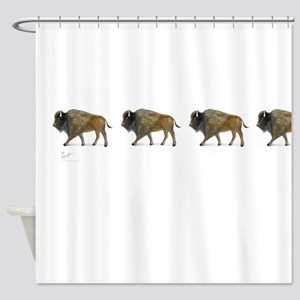 Buffalos Shower Curtain