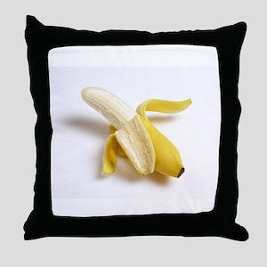 peeled banana Throw Pillow