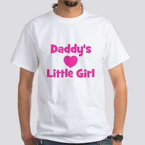 Daddy's Little Girl with hear White T-shirt