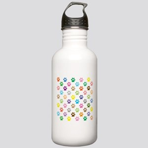 Colorful puppy paw pri Stainless Water Bottle 1.0L
