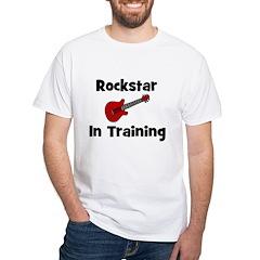 Rockstar In Training White T-shirt