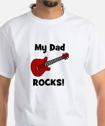 My Dad Rocks! (guitar) White T-shirt