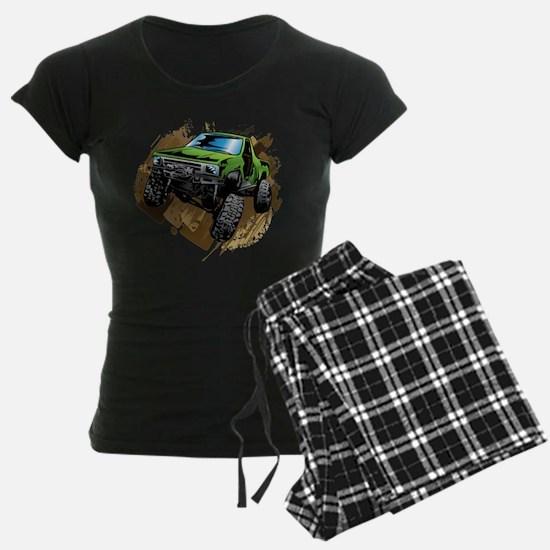 truck-green-crawl-mud Pajamas