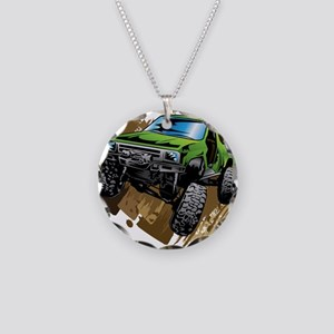 truck-green-crawl-mud Necklace