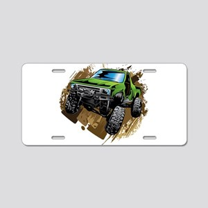 truck-green-crawl-mud Aluminum License Plate