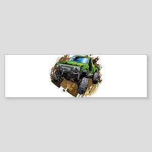 truck-green-crawl-mud Bumper Sticker
