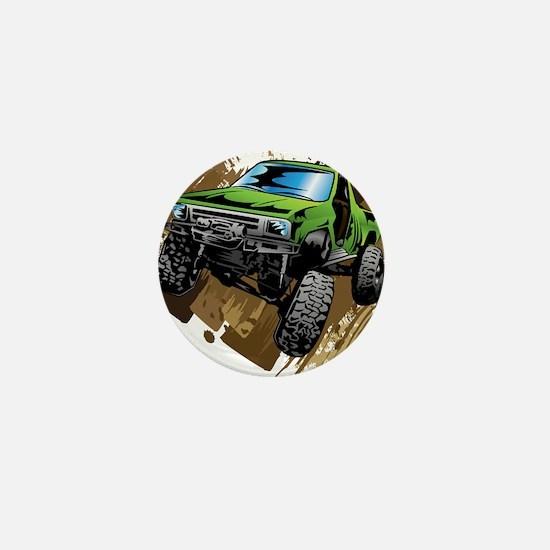 truck-green-crawl-mud Mini Button