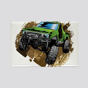 truck-green-crawl-mud Magnets