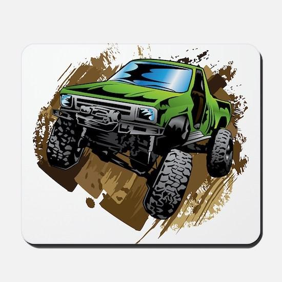 truck-green-crawl-mud Mousepad