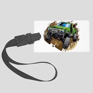 truck-green-crawl-mud Luggage Tag
