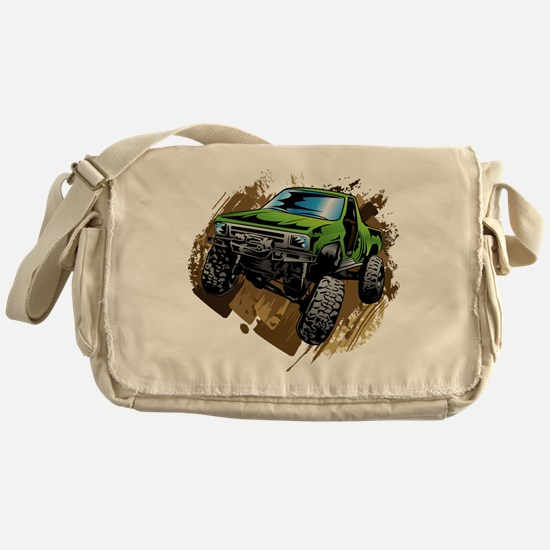 truck-green-crawl-mud Messenger Bag