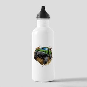truck-green-crawl-mud Water Bottle
