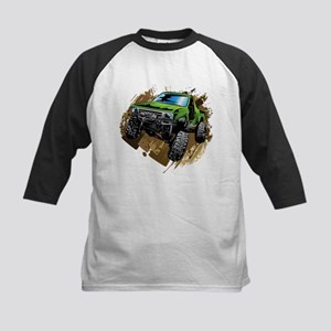 truck-green-crawl-mud Baseball Jersey