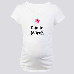 Due in March Butterfly Maternity T-Shirt