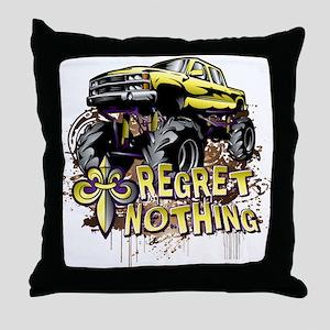Mud Trucks Regret Nothing Throw Pillow