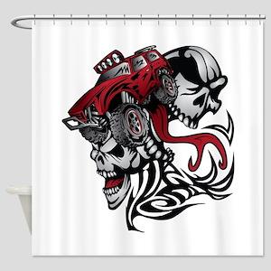 Skull Roller Truck Shower Curtain