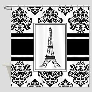 Eiffel Ornamental Stripe Shower Curtain