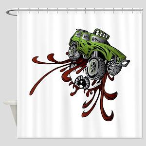 Deadball Rupture Truck Shower Curtain