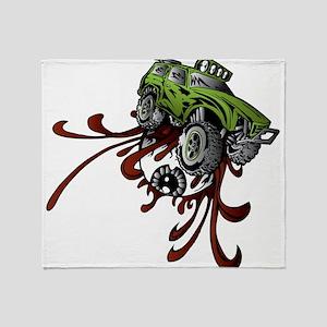 Deadball Rupture Truck Throw Blanket