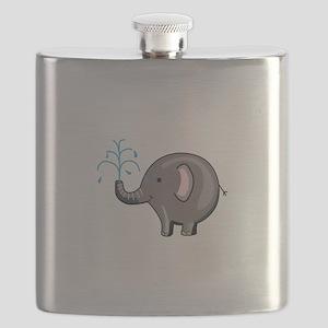 ELEPHANT SPRAYING WATER Flask