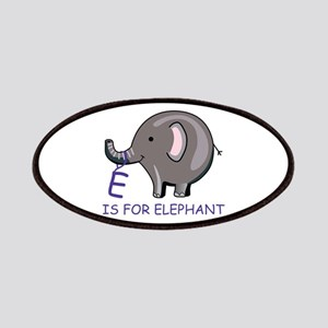 E Is For Elephant Patches