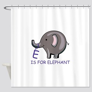 E Is For Elephant Shower Curtain