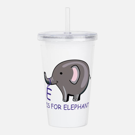 E Is For Elephant Acrylic Double-wall Tumbler
