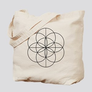 Seed of Life 2 Lines Tote Bag