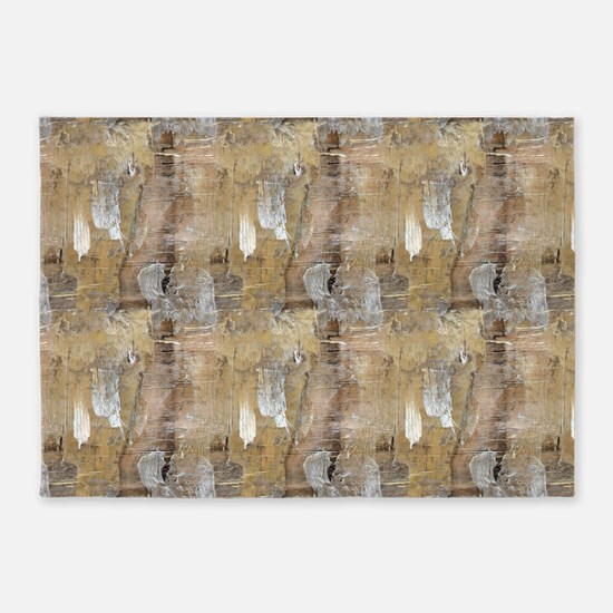 Painted Wood Chips Art 5'x7'Area Rug