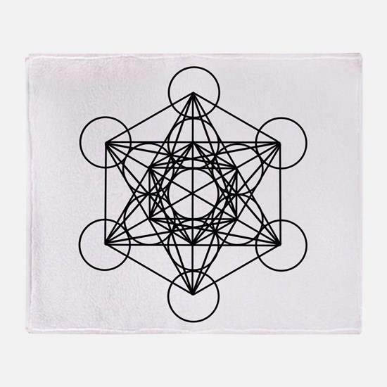 Metatron Cube Throw Blanket