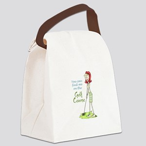 Golf Course Canvas Lunch Bag