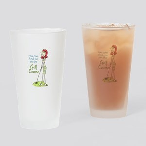 Golf Course Drinking Glass