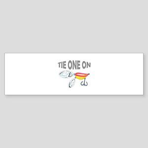 TIE ONE ON Bumper Sticker