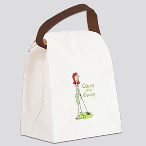 Queen Of The Green Canvas Lunch Bag