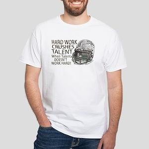 Hard Work Football White T-shirt
