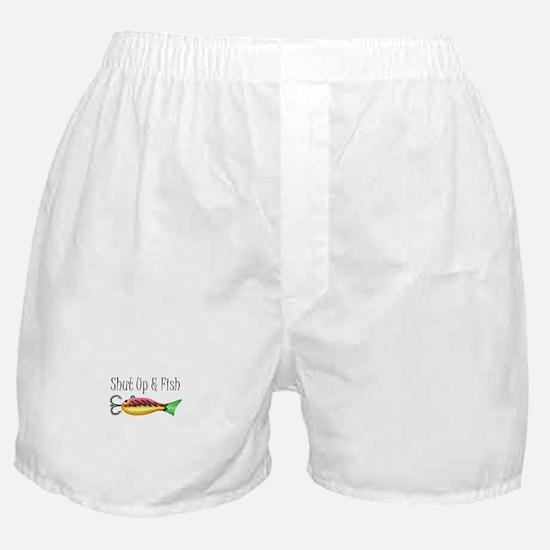 SHUT UP & FISH Boxer Shorts