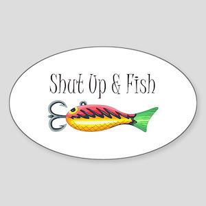 SHUT UP & FISH Sticker