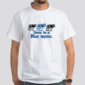 Once in a Blue moo Cow White T-shirt